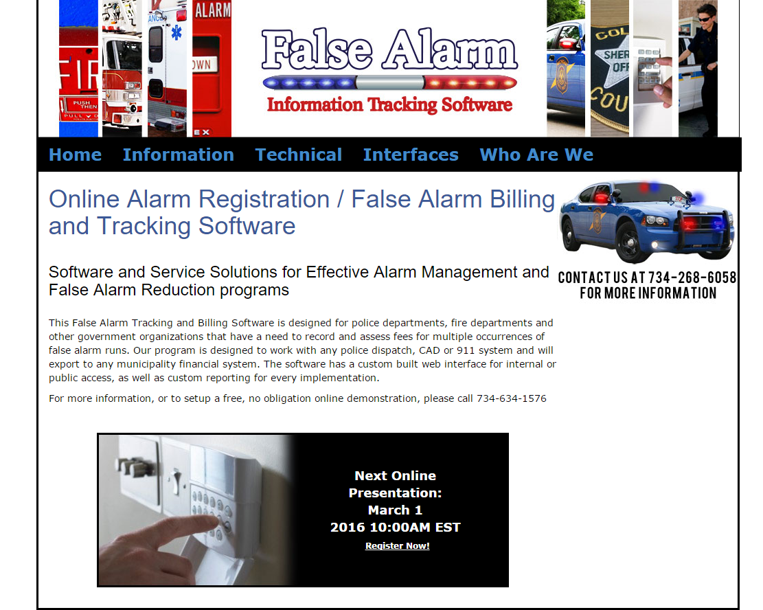 False Alarm Software Screenshot