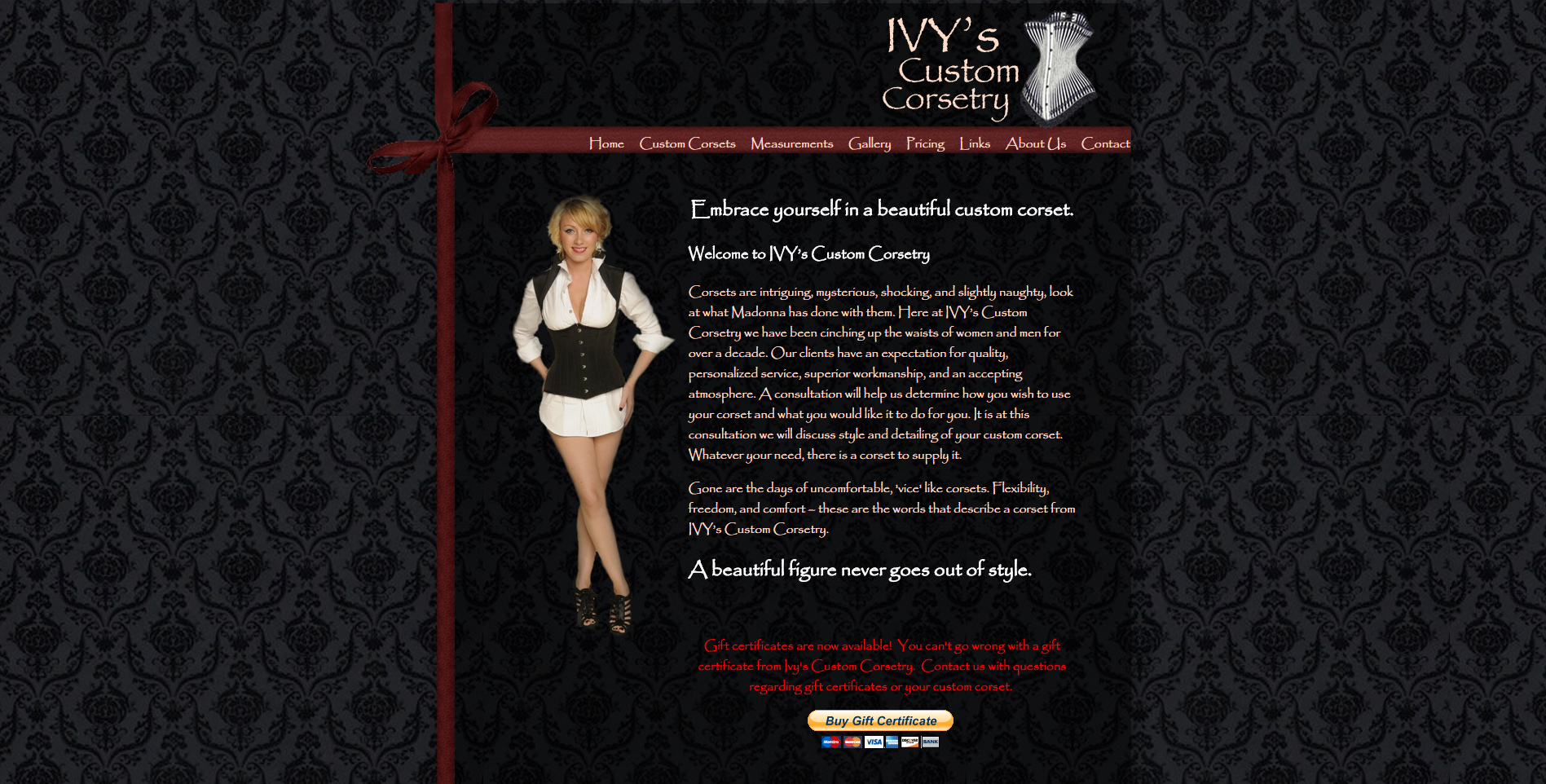 Ivys Corsets Screenshot
